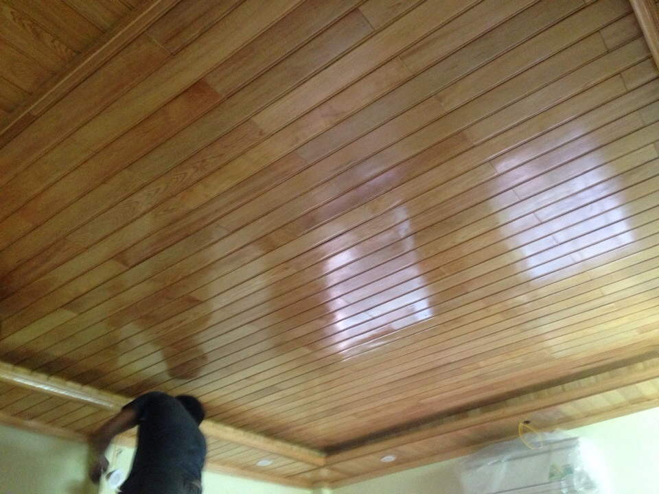 trần gỗ đơn giản đẹp